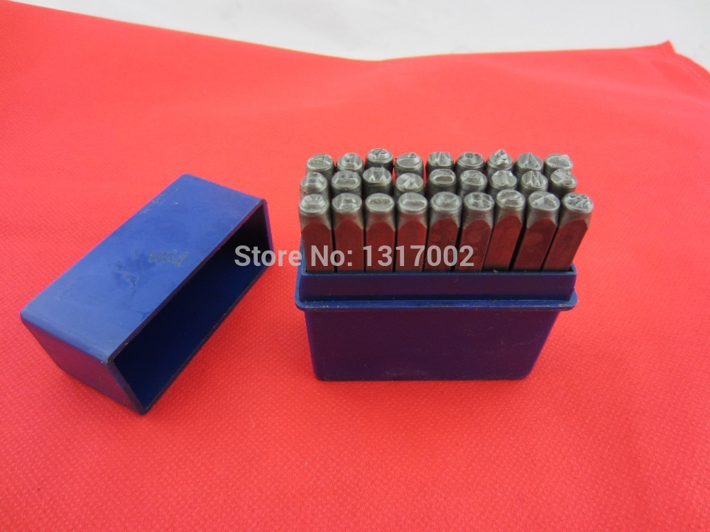 free shippinjg high quality alloy steel 5mm metal letter punch stamping set good hardness and