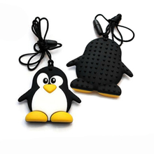 Fashion Cartoon Penguin Silicone Teether Wholesale Funny Teether For Baby Toy Safe For Baby New Hot Silicone Necklace Wholesale(China (Mainland))