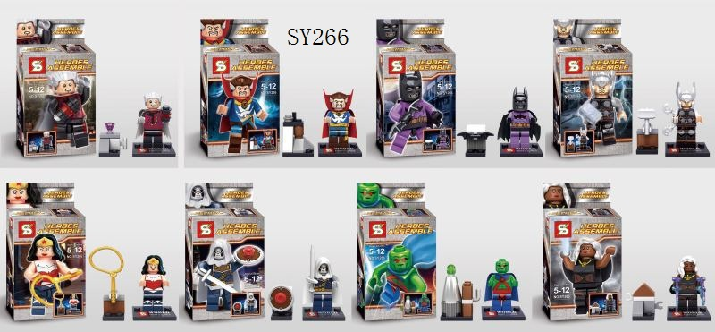 wholesale 2015 new  SY266 Building Blocks Super Heroes Minifigures Heroes Assemble Wonder Woman Batman Compatible with Lego