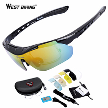 Buy WEST BIKING Cycling Glasses 5 Lens Windproof Anti-fog Mypia Frame Sport MTB Bike Bicycle Polarized Cycling Glasses 5 lens for $13.13 in AliExpress store
