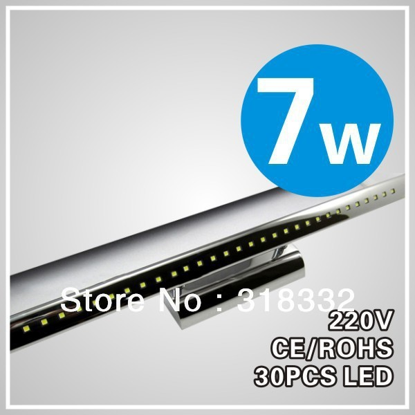 7w round LED  mirror light SMD 5050 bathroom light private bathroom fixtures,2yrs warranty+ free shipping