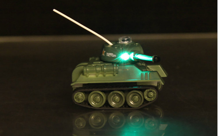 Happycow 777 - 215 49MHz Radio Control Mini War Tank with Lights
