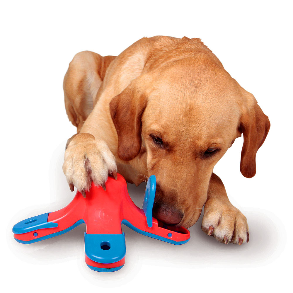 Dog Toys Kyjen Kibble Drop Treat Toy Scent Puzzle Training Toy Goods for Pets Scent Holes on the Chambers Dog Educational Toys(China (Mainland))