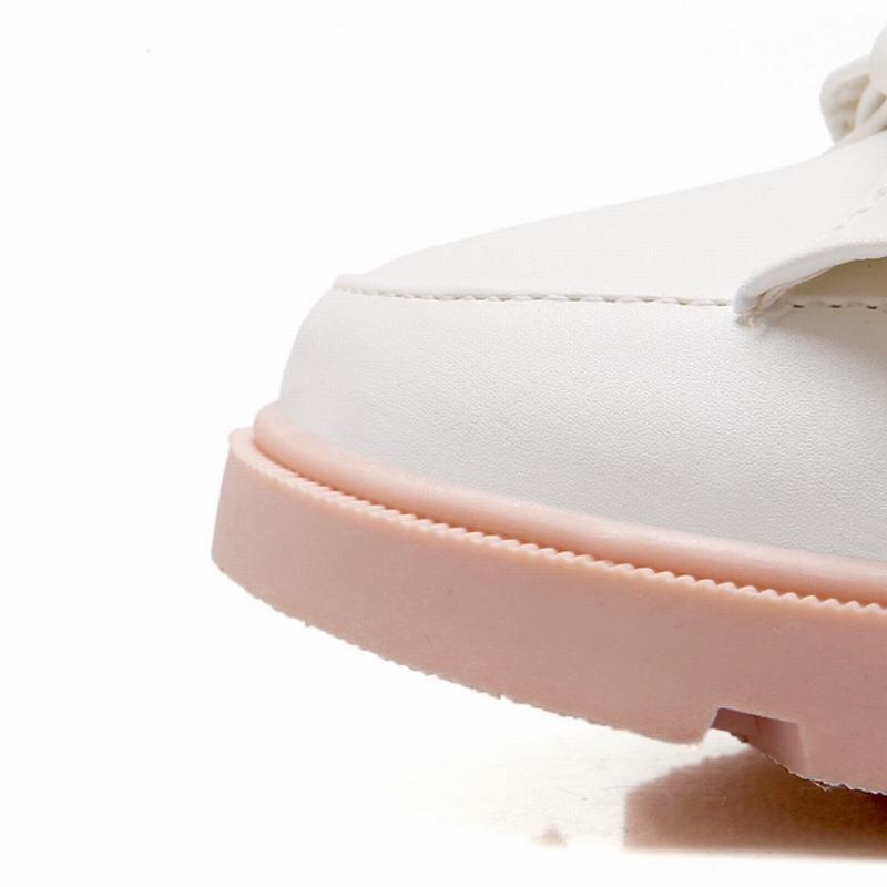 Большой размер 34 - 43 2016 сплошной цвет боути Lofers низком каблуке круглый носок квартир женщин весна осень свободного покроя мода женская обувь