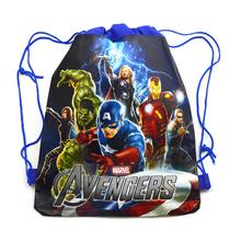 The Avengers Children School Bag Cartoon Kids Drawstring Backpacks for boys children Swimming Bags beach Hiking Travel backpack