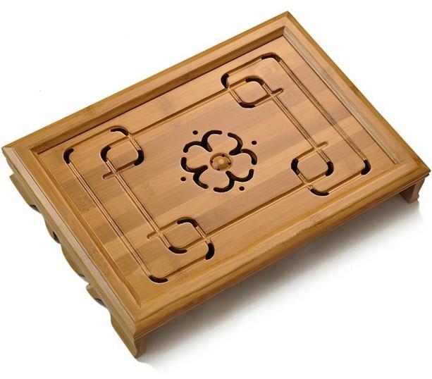 Tea set bamboo tea tray saucer small drawer tea table storage water(China (Mainland))