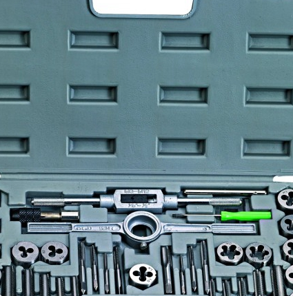 40 manual wire tapping metric tap die group ensemble combined with a round hinge screw machine wrench<br><br>Aliexpress