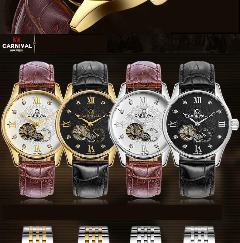 Роскошные Карнавальные часы скелет мужчины серебро нержавеющая сталь водонепроницаемый автомат наручные часы relogio мужской