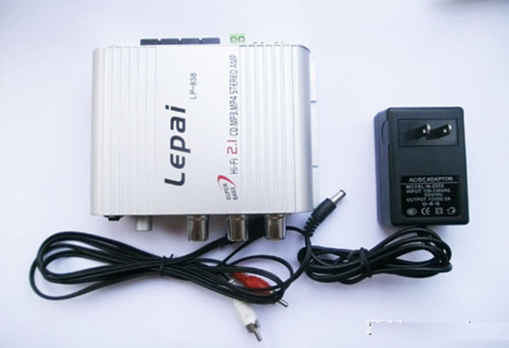 Lepai LP-838, 2.1 3 Channel Stereo Mini Computer Car Amplifier Subwoofer Out Amplifier(China (Mainland))