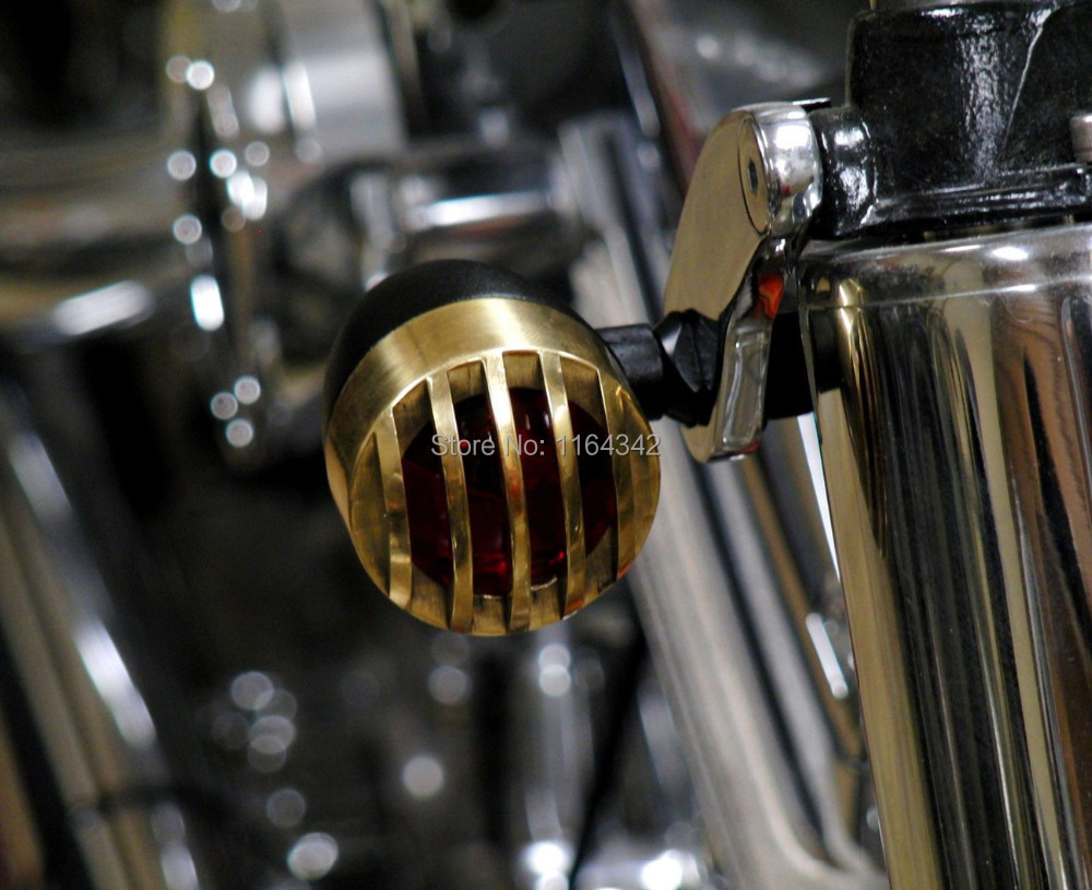 Black + Golden 2pcs Aluminum Bullet Style Motorcycle Blinker Turn Signal Lights Red Lens For Suzuki GSXR1000 600 Custom(China (Mainland))
