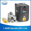 New 1 5kw air cooled spindle motor kit cnc spindle motor 220V 1 5KW inverter Square