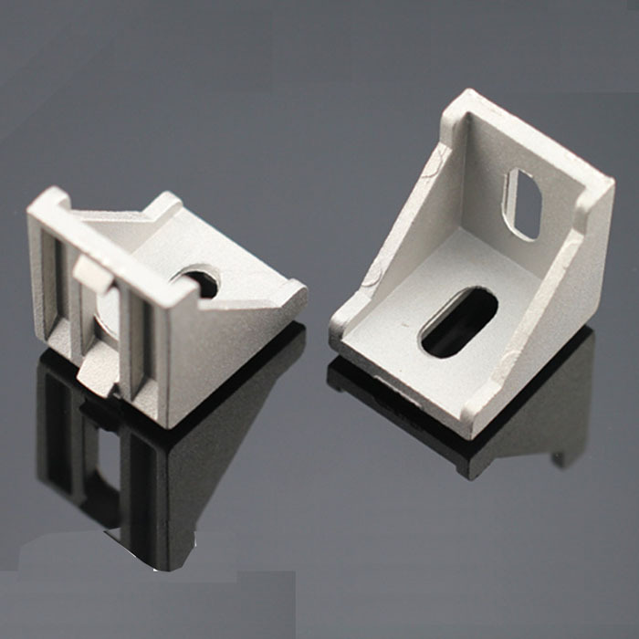 metal corner bracket Aluminum alloy Parts window door fitting part Industrial aluminum fastener profile - Dolami Household store