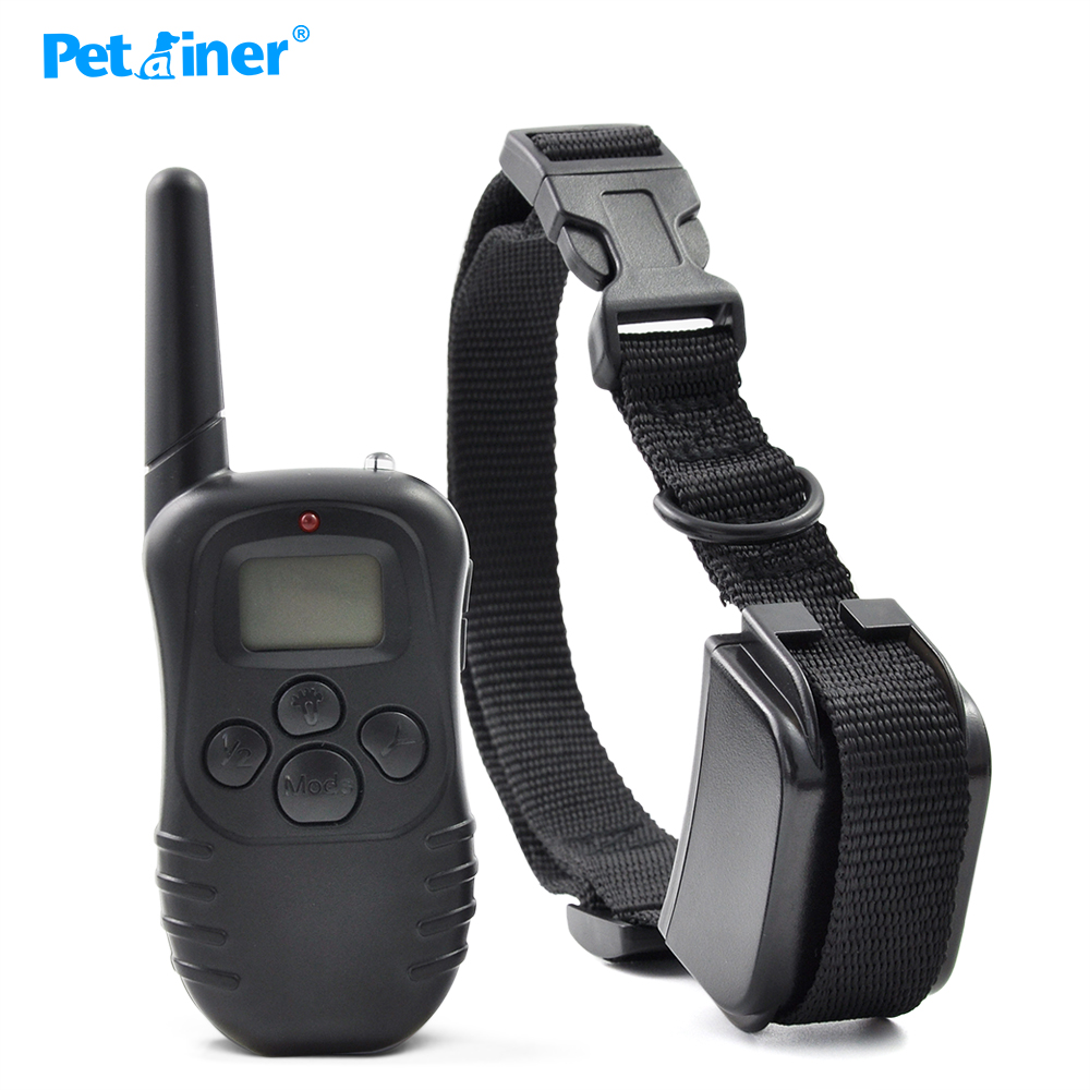 Petainer 300M 100LV Electric Shock Rechargeable Waterproof Remote Dog Training Collar products with LCD Display For 1Dog(China (Mainland))