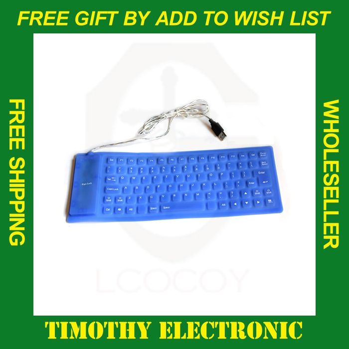 HOT SALE FREE SHIPPING USB Flexible Foldable Silicone Keyboard for PC Notebook Washable Waterproof 1PC(China (Mainland))