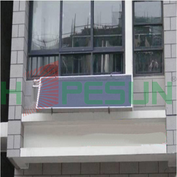 Anodized aluminum factory direct black chrome wall-mounted flat plate solar collectors(China (Mainland))