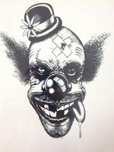 NOVA CHEGADA 21X15 CM Palhaço Tatuagem Temporária Etiquetas Da Arte Corporal Temporária À Prova D' Água #117