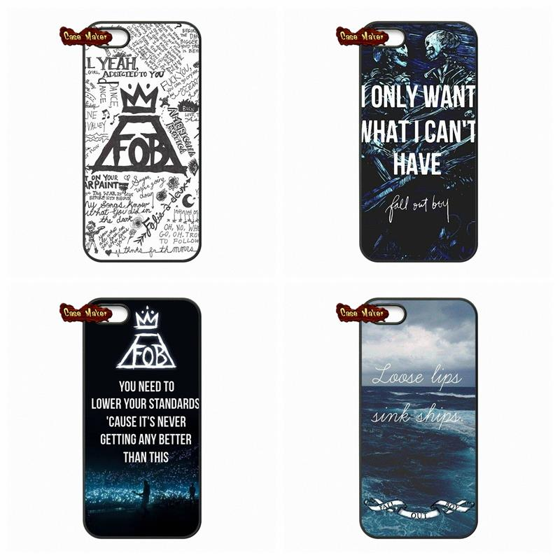 For Samsung Galaxy A3 A5 A7 A8 A9 Pro J1 J2 J3 J5 J7 2015 2016 Hardcore Music Band Fall Out Boy FOB Black Cover Case(China (Mainland))