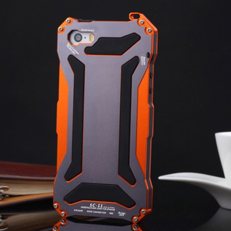 Luxury Shockproof Waterproof Powerful Protection Aluminum Gorilla Glass Metal <font><b>Cover</b></font> Cell Phone Case For <font><b>iPhone</b></font> <font><b>5</b></font> 5s SE