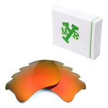 MRY POLARIZED Replacement Lenses for Oakley Flak Jacket XLJ Vented Sunglasses Fire Red