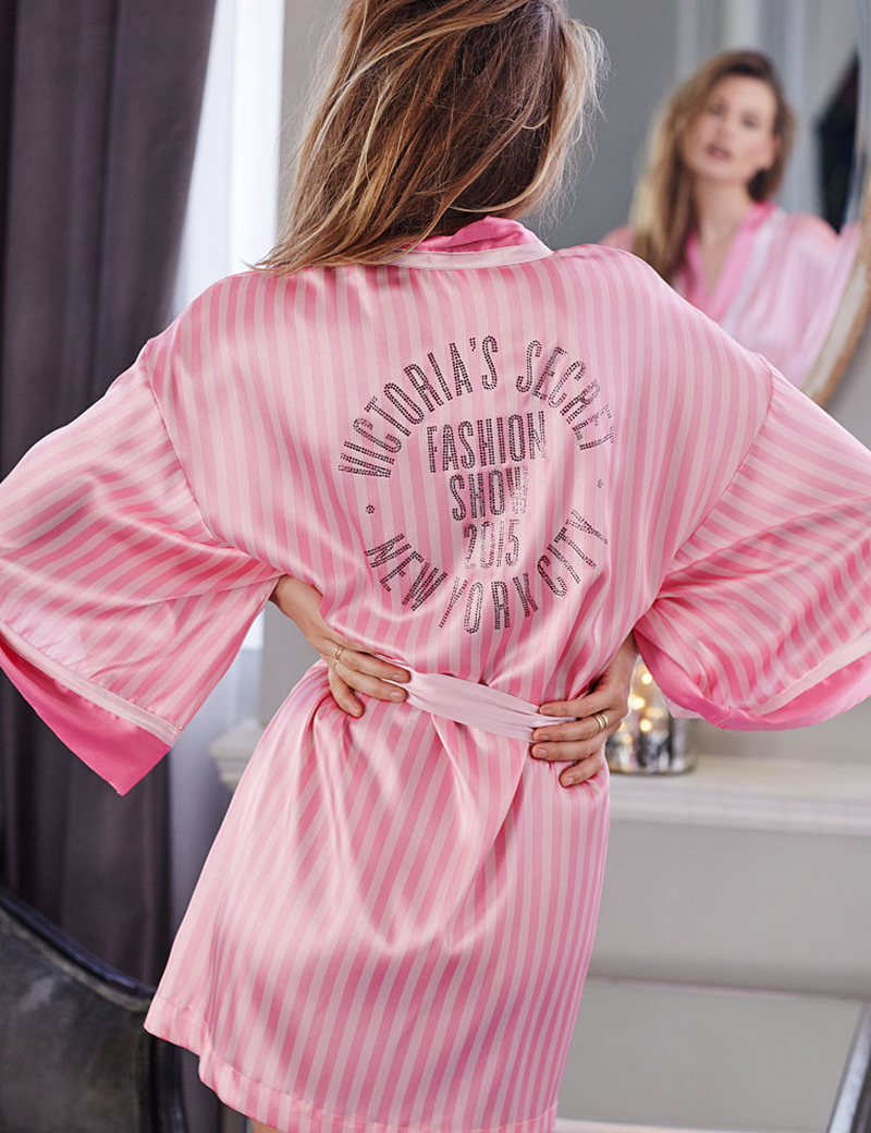 Women's Silk Robes Sexy Kimono Bathrobes Pink Diamond Satin Dressing Gowns Robe 2016 - AK Selected store