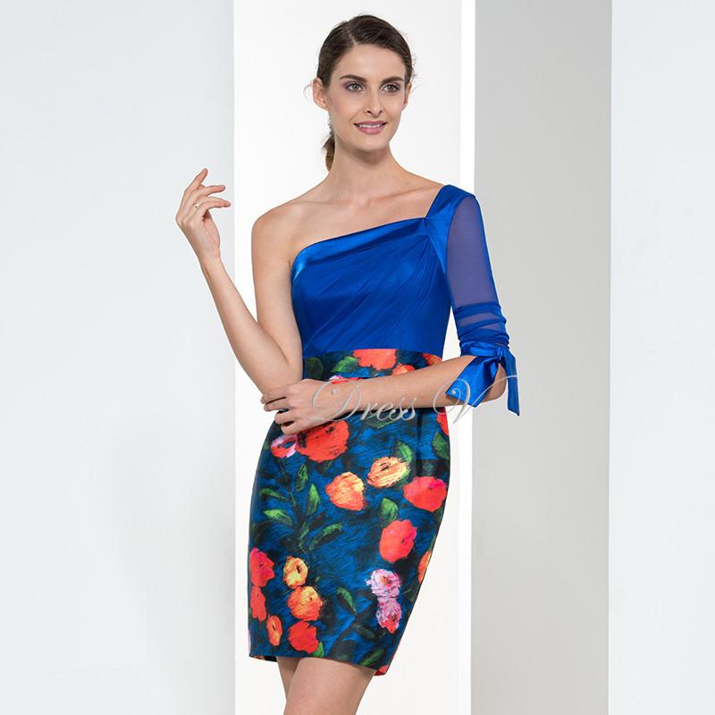 Online Get Cheap Royal Blue Satin Short Dress -Aliexpress.com ...