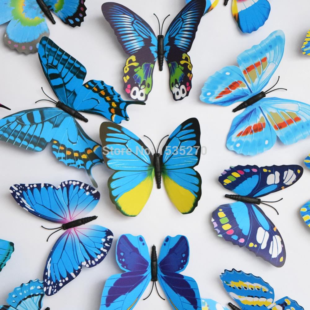 Buy Big Size 3d Butterfly Wall Stickers Butterflies Decors Diy Decorations