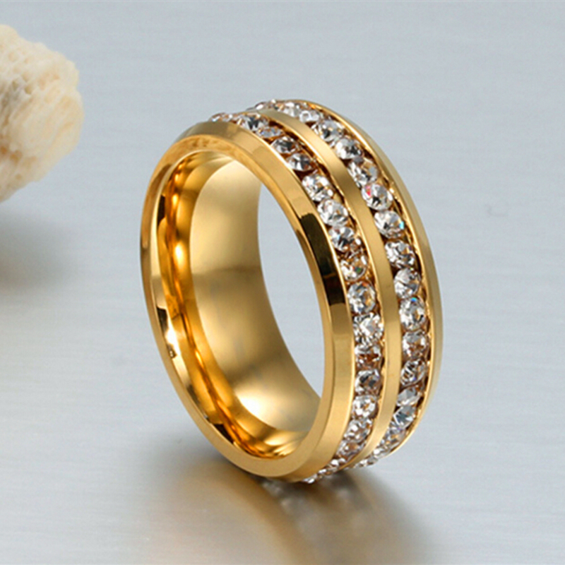 CZ Diamond Jewelry Rings For Women And Men Anillos Wedding Rings Bague Gold Engagement Ring
