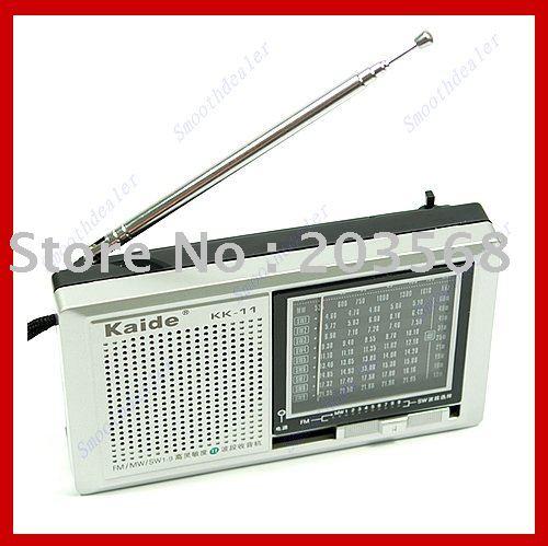 Free shipping FM MV SW High Sensitivity KK 11 Display Radio Receiver