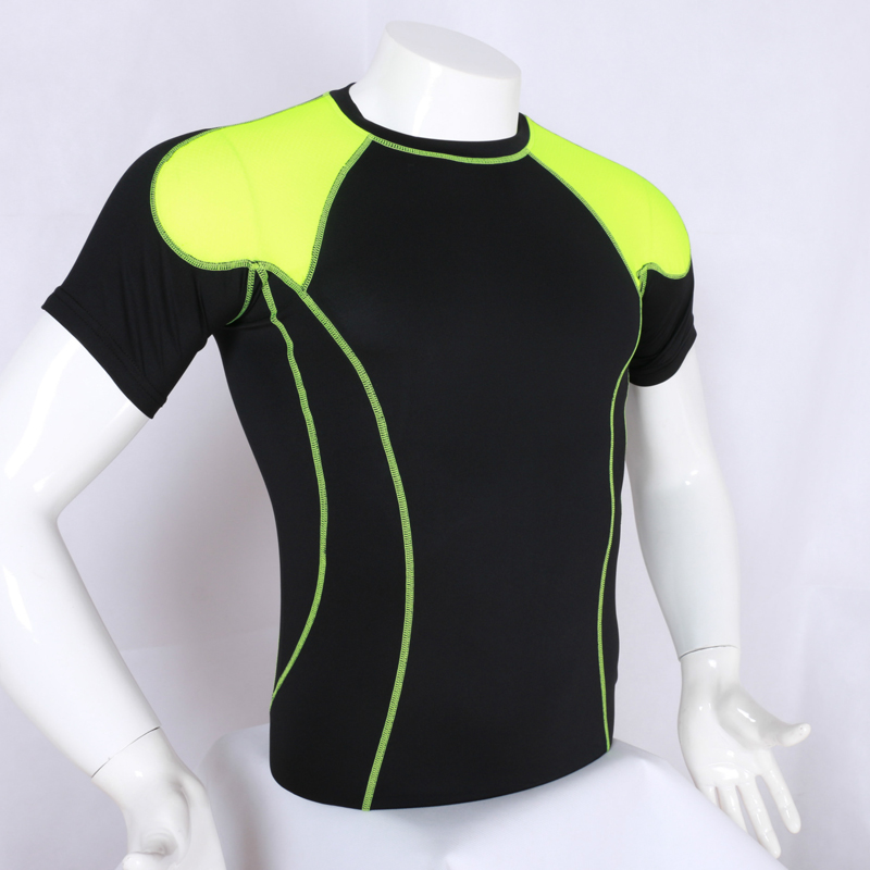 Men Short Sleeve Quick Dry Compression Base Layers Shirt Underwear Set Fitness Running Bike Bicycle Cycling Shorts Sportswear