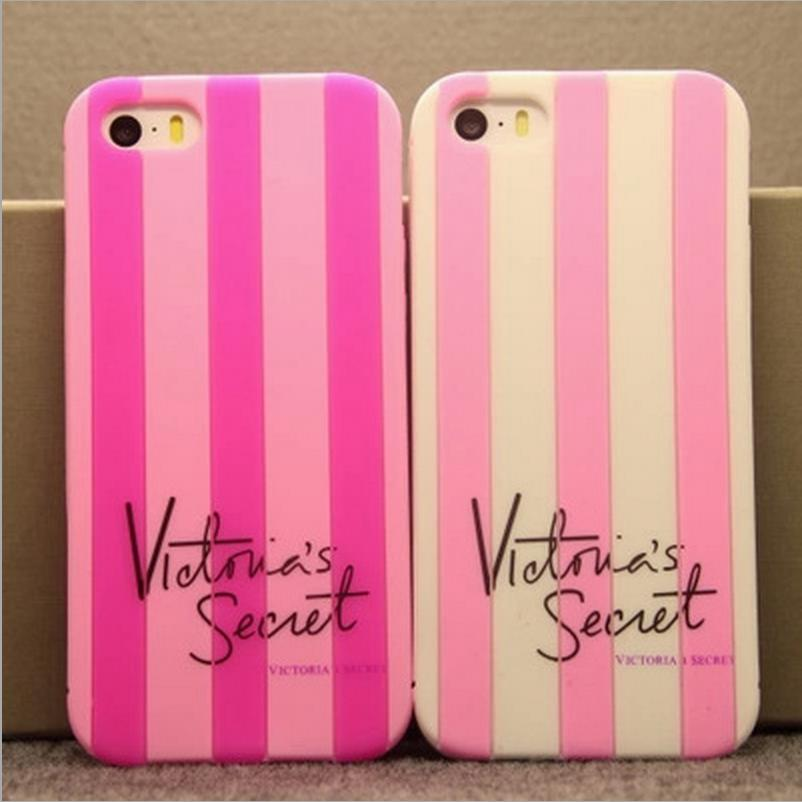 Victoria/'S Secret Pink Explay Fresh Luxury Soft Silicone Stripe Case Covers For Apple Iphone 6 Plus Phone Rubber Back Coque(China (Mainland))