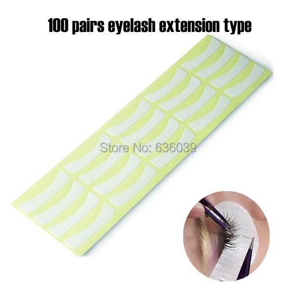 Free Shipping 100pairs/pack Paper Patches Eyelash Under Eye Pads Lash Eyelash Extension Eye Tips Sticker Wraps Make Up Tools(China (Mainland))