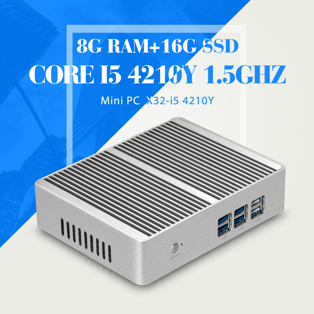 Mini PC Linux I5 4210Y 8G RAM 16G SSD WIFI Ubuntu Linux 12.04 Small Computer Case Support Hd Video Thin Client(China (Mainland))