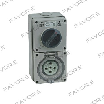 20A three phase 5 round pin combination switch &amp; socket 56CV520<br><br>Aliexpress