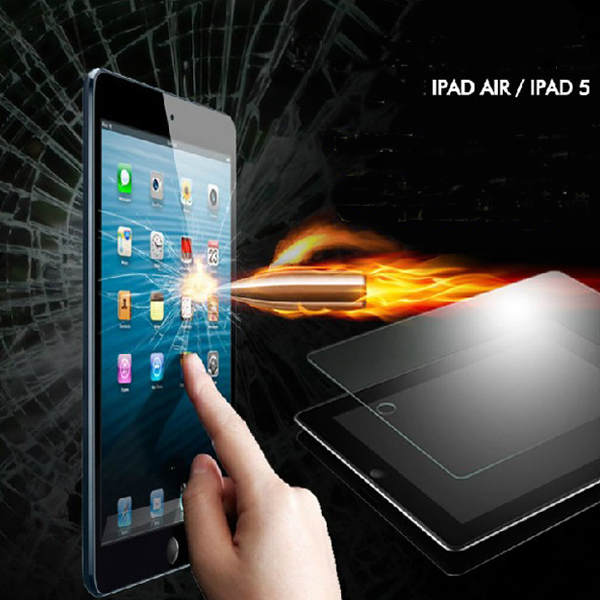 For iPad Air 2 Film Tempered Glass Screen Protector For Apple ipad 5/ For ipad 6 Protective Film Screen Guard For ipad air(China (Mainland))