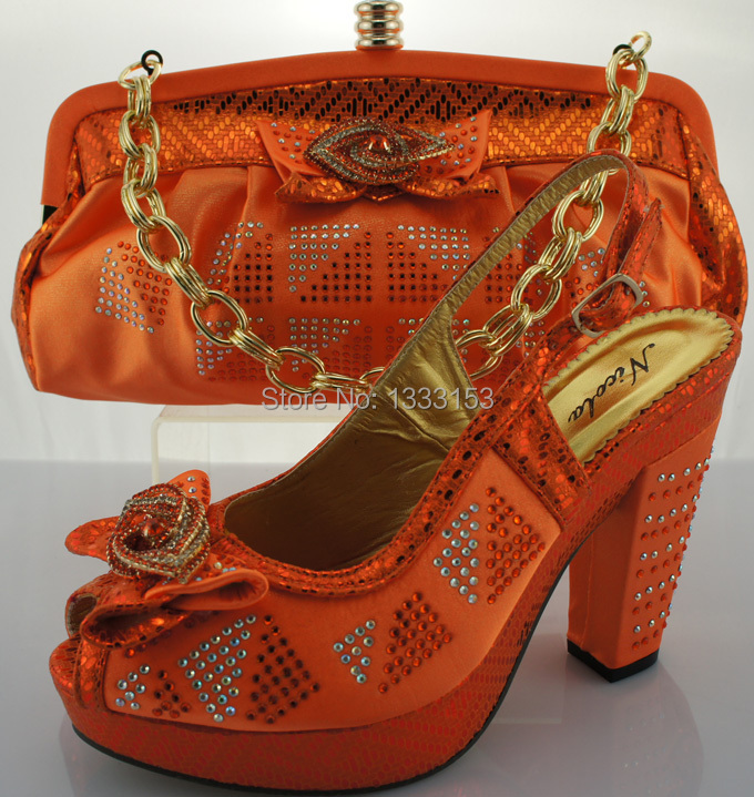 New  Women  Wedding Italian Shoes And Bags To Match For Women Sandals
