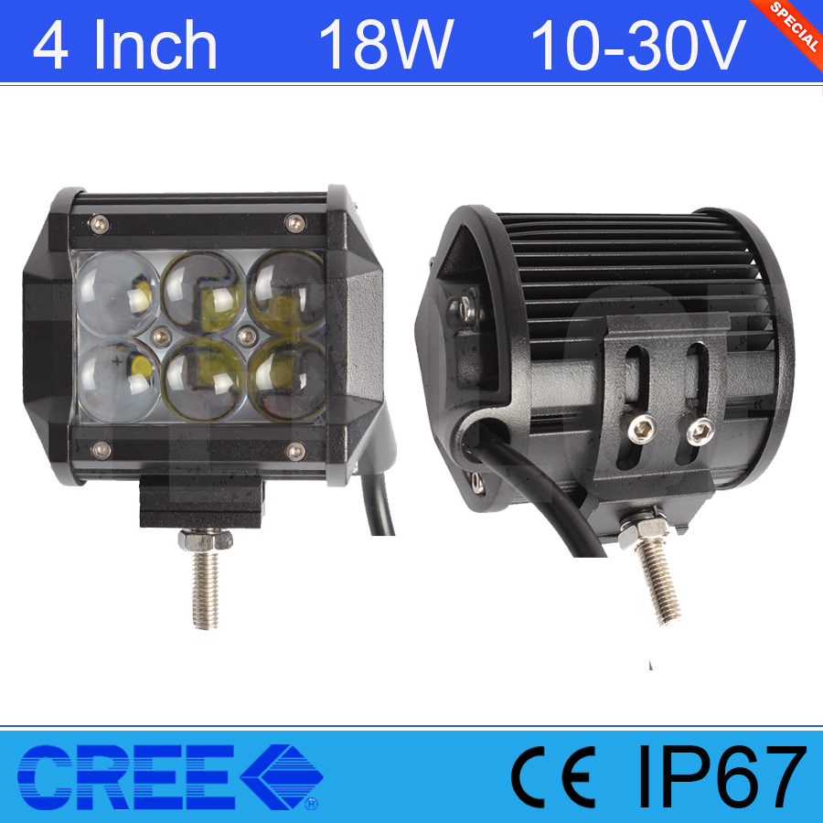 2PCS 4 Inch 18W Cree Light Bar With 4D Lens For Offroad SUV 4*4 Truck Boat<br><br>Aliexpress