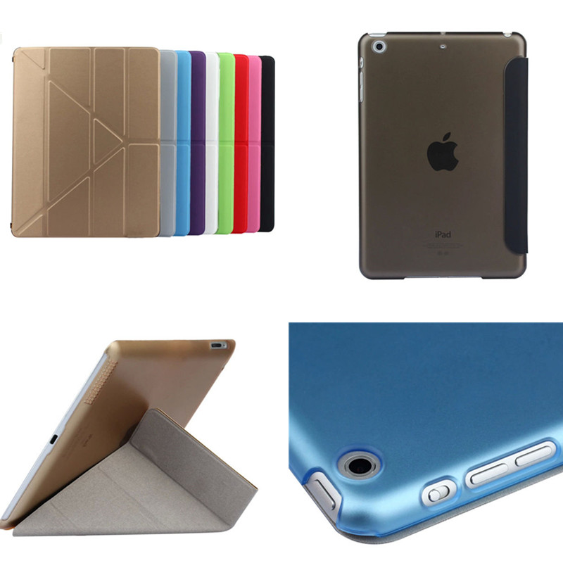 Wholesale TLP-BX PU Leather Case for iPad Air 1  Air1 9.7 Luxury Cover for iPad 5 With Stand Plastic Back Colorful Clear Cover <br><br>Aliexpress