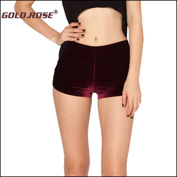 2015 New Women Shorts Black fashion women's casual short pants women's Milk velvet Velvet shorts Boxer shorts 3 colors #GRP008(China (Mainland))