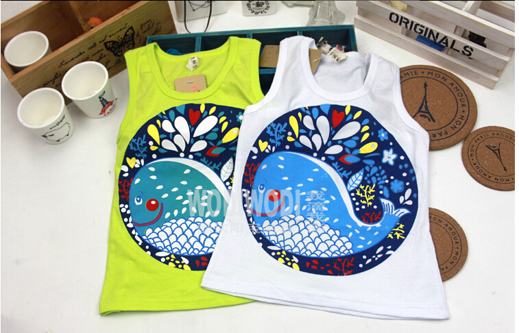 Футболка для мальчиков Sweet Sunflower sleevelessT 5pcs Children top 0868  400 5 6 0868