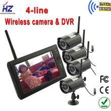 """2.4 GHz sans fil Quad CCTV caméra avec 7 """" HD moniteur récepteur pour Surveiliance sécurité Baby Monitor(China (Mainland))"""
