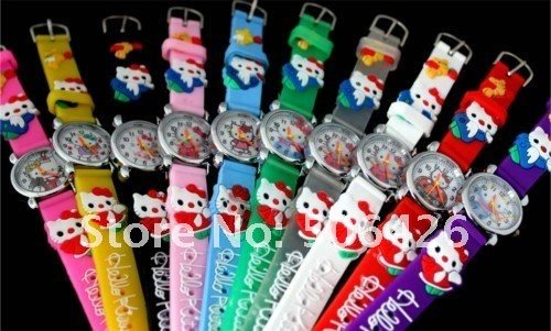 Free Shipping 20pcs/lot Promotion NEW Cute 3D Hello Kitty Kids Watch Goods kids Children watch<br><br>Aliexpress