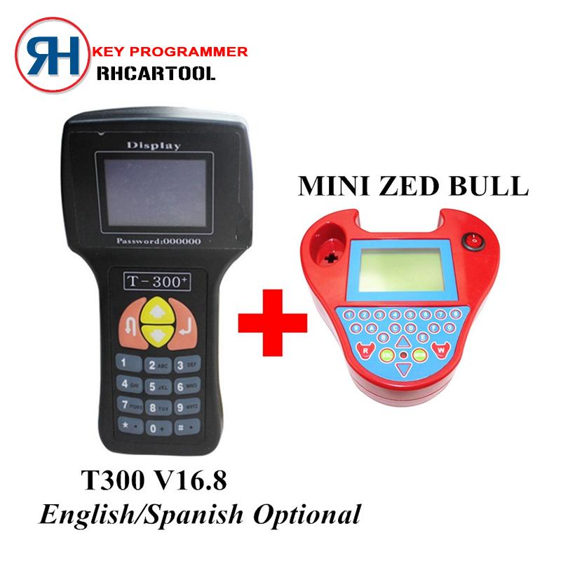 Auto Key Programmer T300 Key Programmer V16.8 English/Spansih T-300 T 300+MINI Zed Bull Zedbull Car Key Maker Works Multi-Brand(China (Mainland))