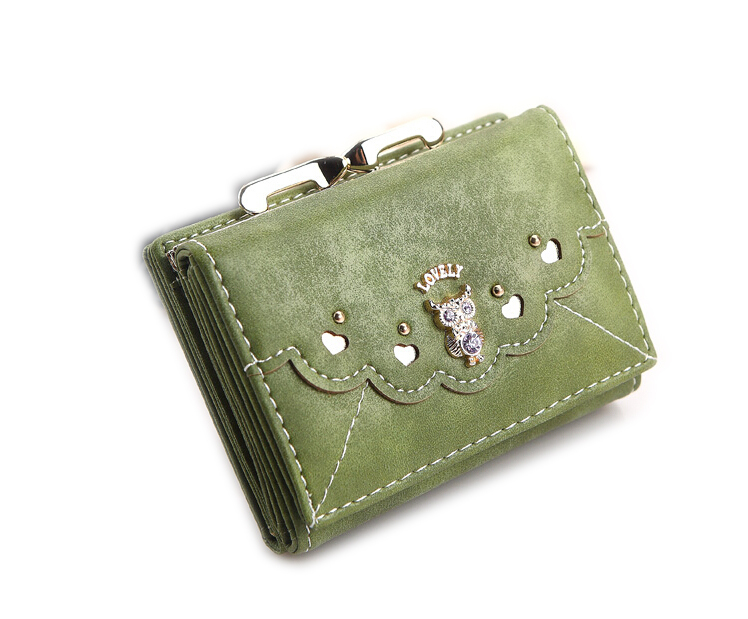 lady wallet Fashion new lovely students PU wallet lovely small lovely owl wallets(China (Mainland))