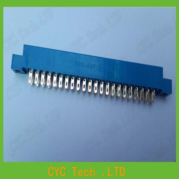 30pcs/Lot 805 Card Edge Connector 3.96mm Pitch 2x22 Row 44 Pin PCB Slot Solder Socket SP44 Dip Wire Solder Type(China (Mainland))