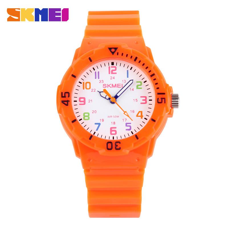 Skmei Students Watch Fashion Casual Watches Quartz Wristwatches Waterproof Jelly Kids Clock boys Hours girls Children Wristwatch(China (Mainland))