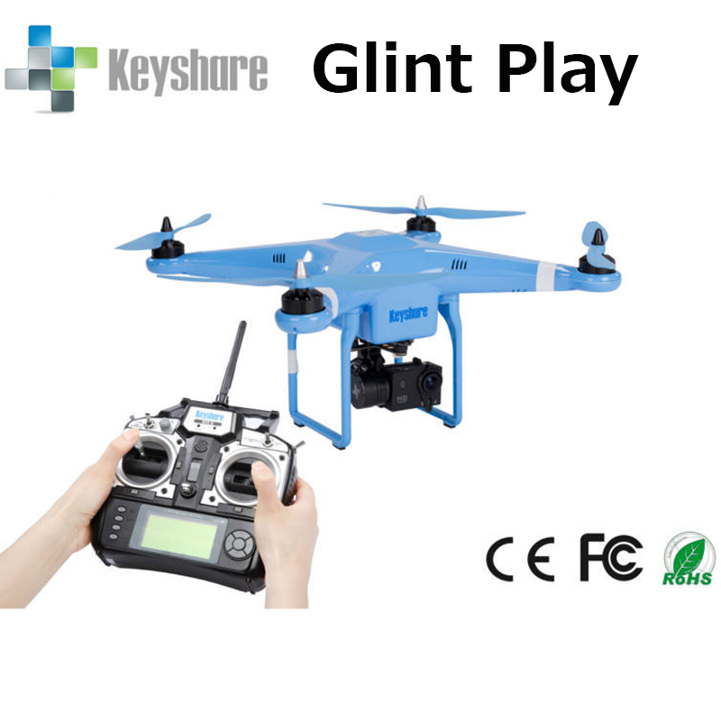 Keyshare Glint Play Quadcopter with Gimbal,1080P Camera Support Gopro camera , one key go home,GPS ,Flying 30 minutes drone RTF<br><br>Aliexpress
