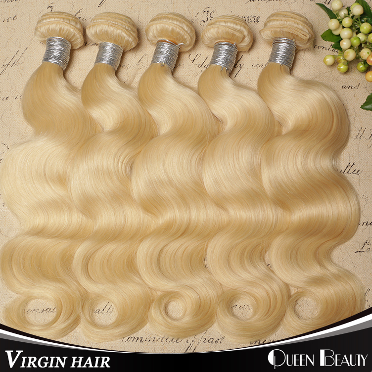 Wholesale Blonde Virgin Hair Extensions Color 613 Brazilian Hair Hot Sale Virgin Hair Weaves 12inch to 30inch,Free Shipping(China (Mainland))