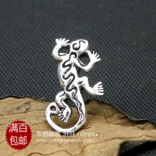 Retro pop punk, the import of silver 925 silver Thai Bangkok Tremella nail, gender neutral, house lizard lizard(China (Mainland))