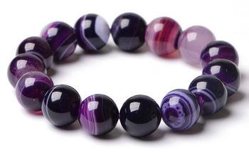 Мода фиолетовый агат браслеты для женщин будды бусины браслет этнические аксессуары ...