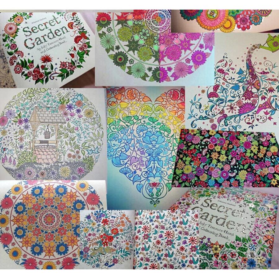 Secret Garden Coloring Book Artist Books For Adults Jardim Secreto